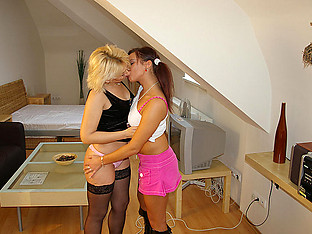 Hot teen doing a horny lesbian housewife